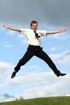 Free Jumping Man Royalty Free Stock Photography - 10267557