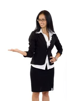 Free Attractive Businesswoman Presenting Something Royalty Free Stock Photos - 10267558