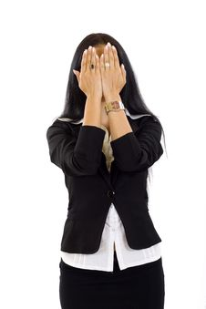 Free See No Evil Pose Royalty Free Stock Photography - 10267887