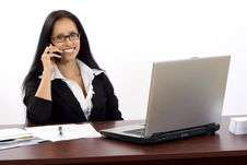 Attractive Businesswoman On The Phone Royalty Free Stock Photos