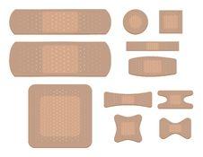 Adhesive Bandages Stock Photography