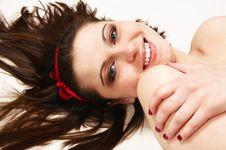 Free Woman Lying On Floor Stock Photo - 10269630
