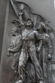 Soviet Bas-relief Stock Photo