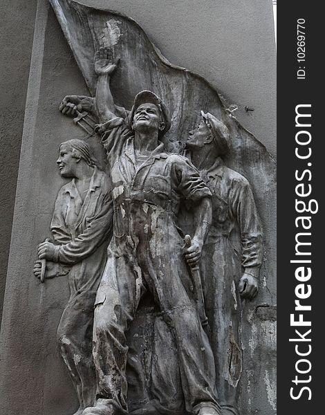 Soviet bas-relief
