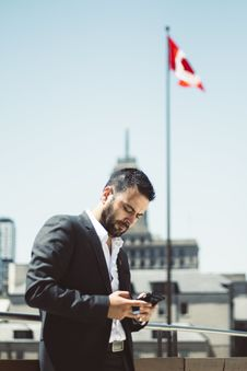 Free Businessman, Busy, Canada Stock Image - 102602211