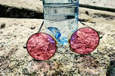 Free Glasses, Bottle, Stone Royalty Free Stock Photography - 102644187