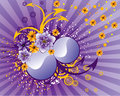 Free Abstract Flowers On Purple Background Stock Image - 10271671