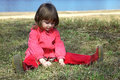 Free Girl Playing In Grass Royalty Free Stock Image - 10277646