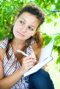 Free Girl With Notebook Stock Photos - 10279343