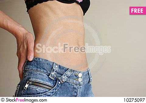 Free Female Belly Button Royalty Free Stock Photography - 10275097