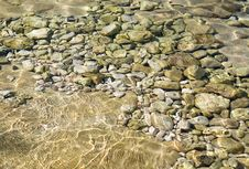 Free Pebbles Under Water Stock Photos - 10270293
