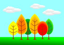 Free Autumn Colorful Trees Stock Images - 10270834