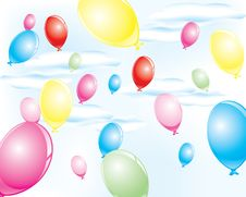 Free Colorful Party Balloons Stock Photos - 10271733