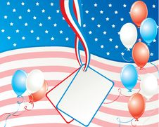 Free American Independence Day Card Royalty Free Stock Photo - 10271845