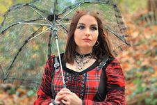 Beautiful Gothic Girl Stock Photography
