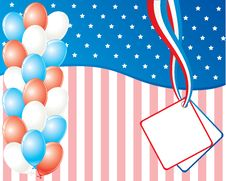 Free American Independence Day Card Royalty Free Stock Photo - 10272025