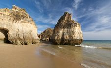 Free Beach In Algarve 2 Stock Photos - 10272193