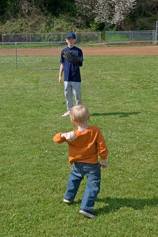 Free Little League Player. Stock Photography - 10272552