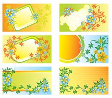 Set Of Cards For Advertising Royalty Free Stock Images