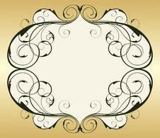 Free Retro Gold Vintage Frame Stock Image - 10272801