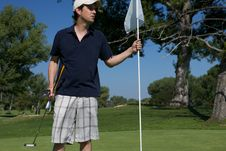 Free Man Golfing Stock Photography - 10273872