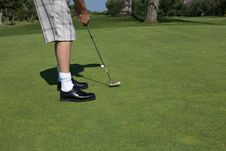 Free Man Golfing Royalty Free Stock Photography - 10273887