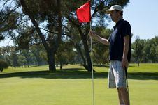 Free Man Golfing Stock Images - 10273904