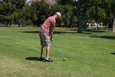 Man Golfing Royalty Free Stock Photo