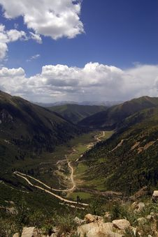 Tibet Landscapes Stock Photo