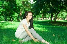 Free Girl In The Park Royalty Free Stock Photography - 10274307