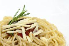Free Spaghetti With Tomato Sauce Royalty Free Stock Image - 10274456