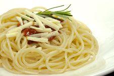 Free Spaghetti With Tomato Sauce Royalty Free Stock Image - 10274466