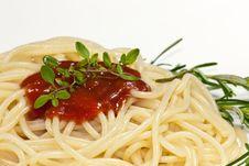 Free Spaghetti With Tomato Sauce Royalty Free Stock Photos - 10274688
