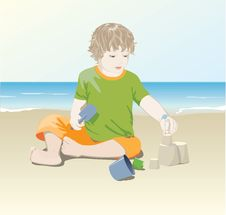 Free Child On The Beach Royalty Free Stock Photography - 10274697
