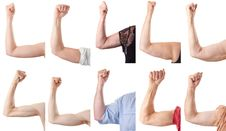 Free Fist And Arms Of Male And Female, All Ages. Royalty Free Stock Photo - 10274735