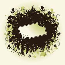 Floral Frame, Summer Illustration Stock Images