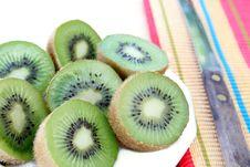 Sliced Kiwi Stock Photo
