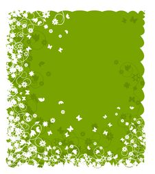 Abstract Floral Frame For Your Design Royalty Free Stock Photography