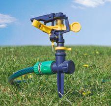 Free Lawn Sprinkler Water Stock Image - 10276041