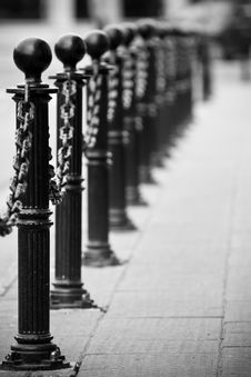 Free Chain Barrier Stock Photo - 10276200