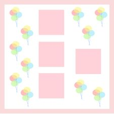 Party Balloon Scrapbook Royalty Free Stock Image