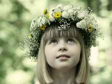 Free The Girl In A Flower Wreath. Stock Image - 10276551