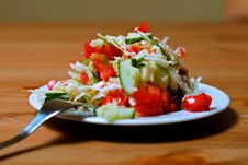 Free Salad With Tomatoes Royalty Free Stock Image - 10276646
