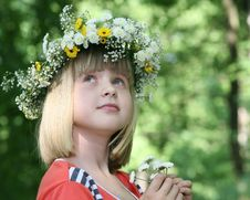 Free The Girl In A Flower Wreath. Royalty Free Stock Photo - 10276695