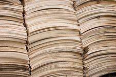 Free Pile Of Wooden Shingles Stock Photo - 10276790