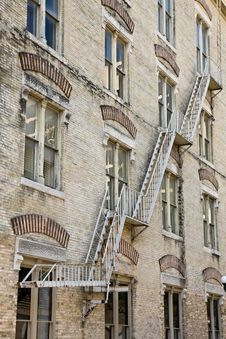 Free Fire Escape On An Old Building Royalty Free Stock Photography - 10276917