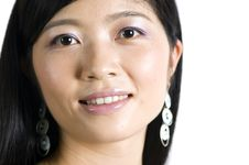 Free Smiling Chinese Girl - Portrait Royalty Free Stock Photography - 10277857