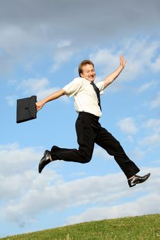 Businessman Jumps Stock Images