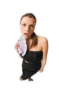 Free Beautiful Woman With Money Stock Image - 10278461