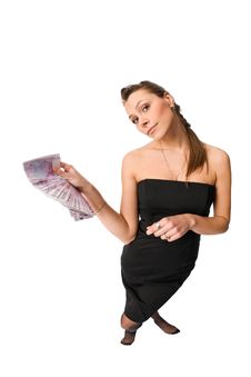 Free Beautiful Woman With Money Stock Image - 10278501